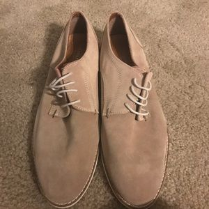 Men's tan suede dress shoes